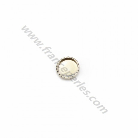 Set in 925 silver, for round cabochon of 5mm x 5pcs