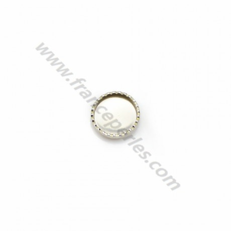 Set in 925 silver, for round cabochon of 6mm x 5pcs