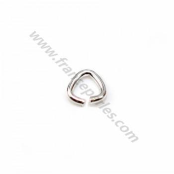 925 Silver, Open Triangle-shape, 6*6x0.6mm, X 20pcs