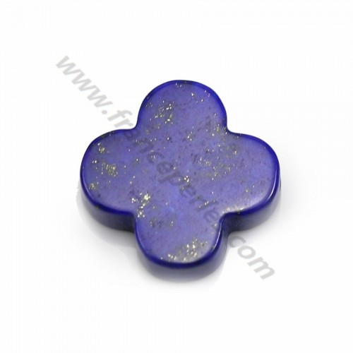 Lapis lazuli blue, in clover shaped, 18mm x 1pc
