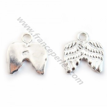 925 Sterling Silver angel wings charm 11.5*11 mm x1 pc