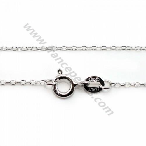 925 sterling silver rhodium chain oval x 45cm