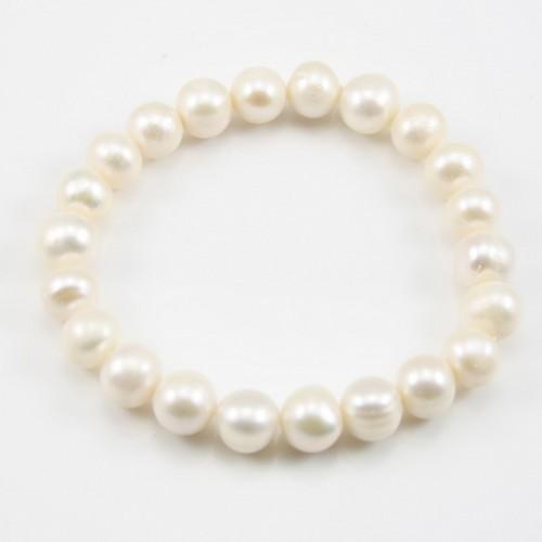 Adrienne Bracelet Freshwater White Pearl