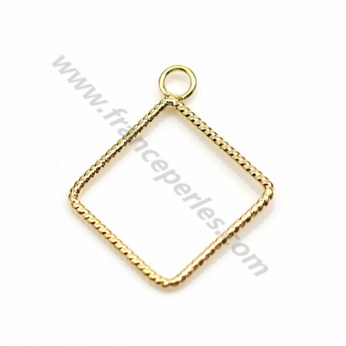 "Snowflake pendant plated ""flash"" gold brass 5.8mm x 8pcs"