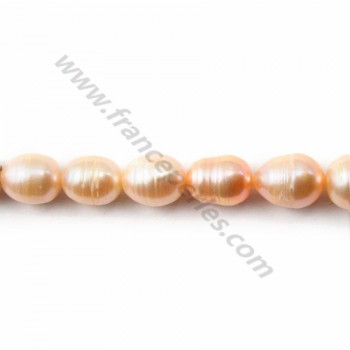 Mauve freshwater pearl olive 8*8-10mm X 40 cm
