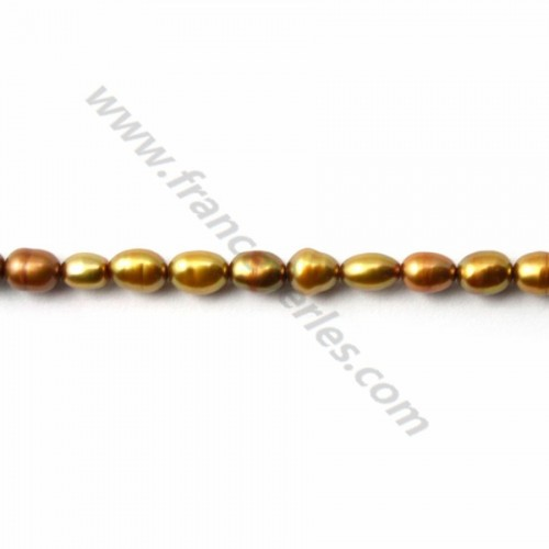 freshwater pearl baroque 5-6mm X 40cm