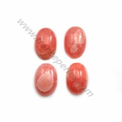 Pink rhodochrosite cabochon, in oval shape, in size of 7*12mm x 1pc