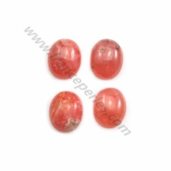 Pink rhodochrosite cabochon, in oval shape, in size of 9*11mm x 1pc