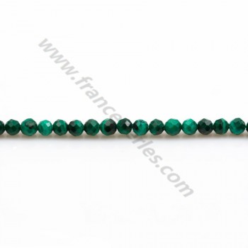 Malachite ronde facette 3mm x 40cm