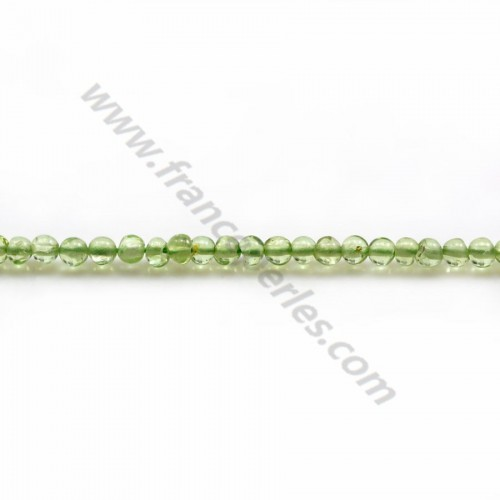 Peridot green, in the shape of a round, 2mm x 34cm