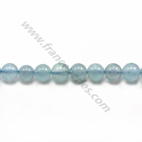Aquamarine Round 7mm x 39cm