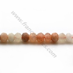 Moonstone multicolor, in shaped of faceted washer, 4 * 6mm x 39cm