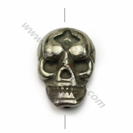 Pyrite, in skull shaped, 13 * 18mm x 1pc