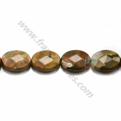 African opal, on beige color, in round shape, 4mm x 40cm