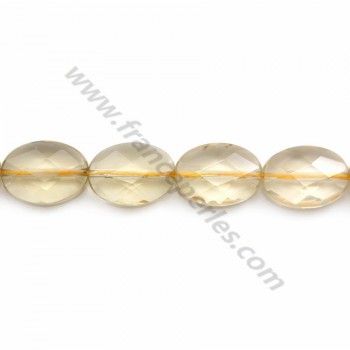 Lemon Quartz Flat Round  10mm X 40cm