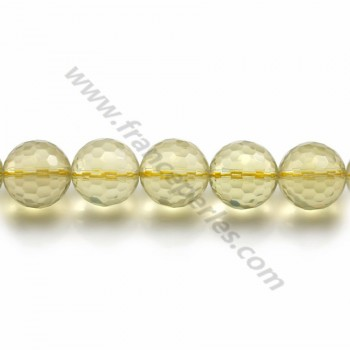 Quartz Lemon Ronde facette  14mm X 40cm