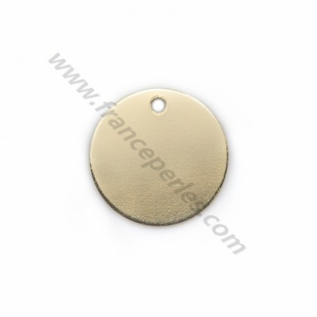 Round charm awards a medal to engrave in gold filled 11mm x 1pc
