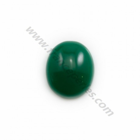 Green aventurine cabochon, in oval shaped, 4 * 6mm x 4pcs