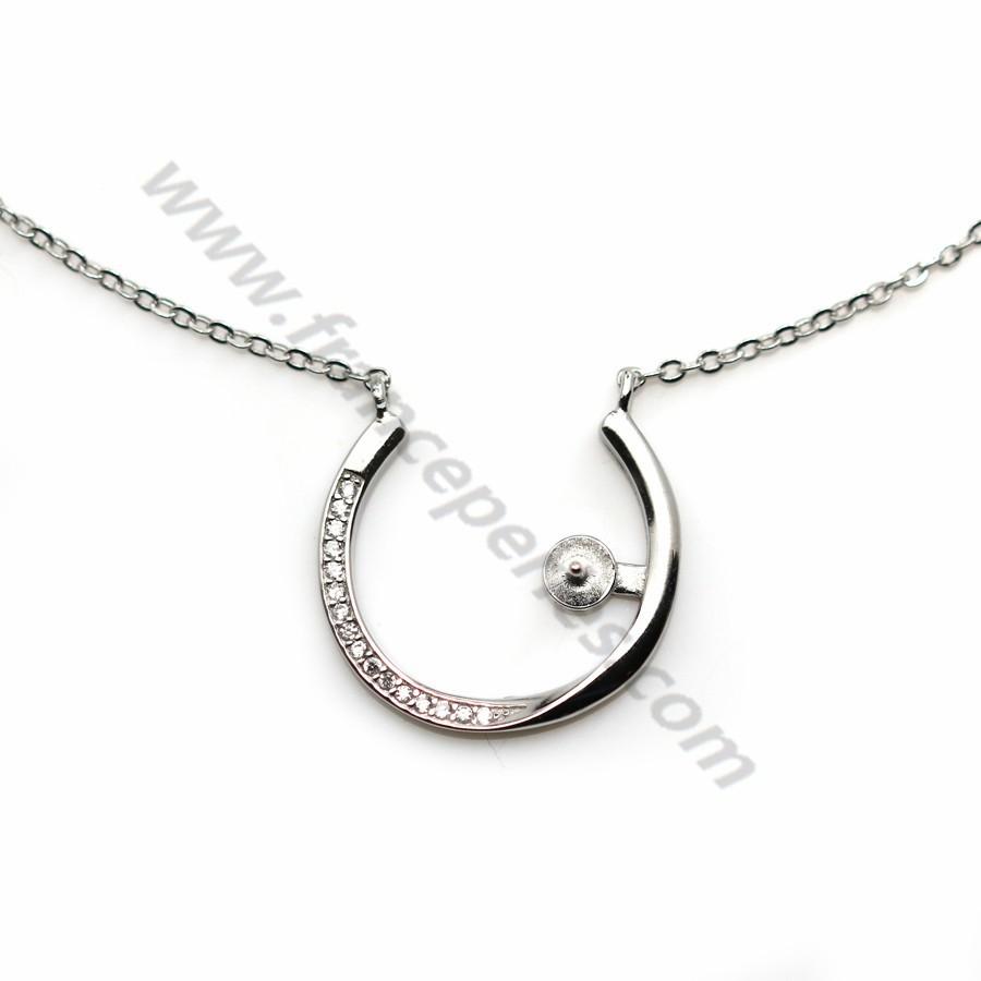20/mm Fermoir /à anneau /à ressort en argent sterling 925/ovale pour collier de perles