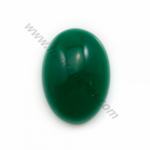 Green aventurine cabochon, in oval shaped, 13*18m x 1pc
