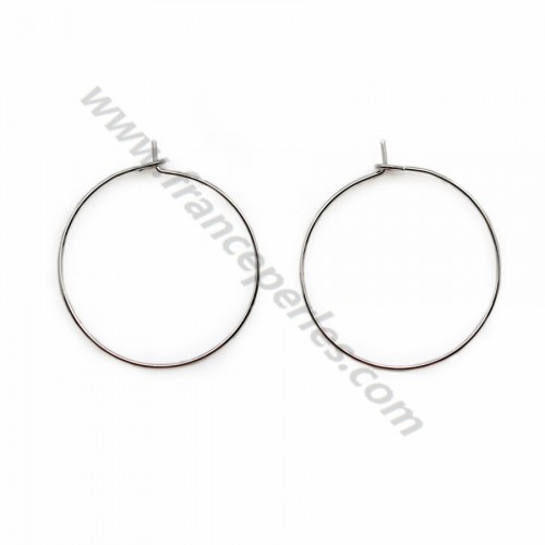 "Hoop earrings to decorate plated by gold ""flash"" 20mm x 4pcs"