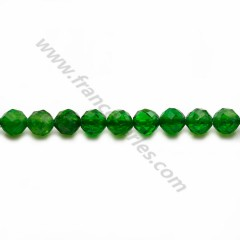 Tsavorite green, faceted round shape, 5mm, x 4pcs