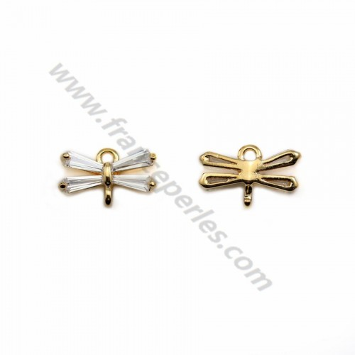"Mustache charm by ""flash"" gold on brass  5.5*10mm x 5pcs"