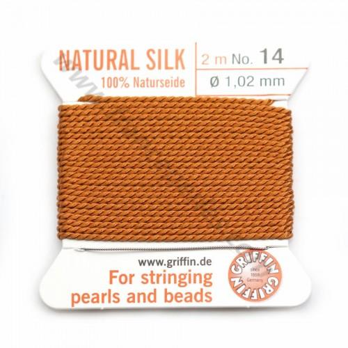 Silk bead cord 0.45mm gray x 2m