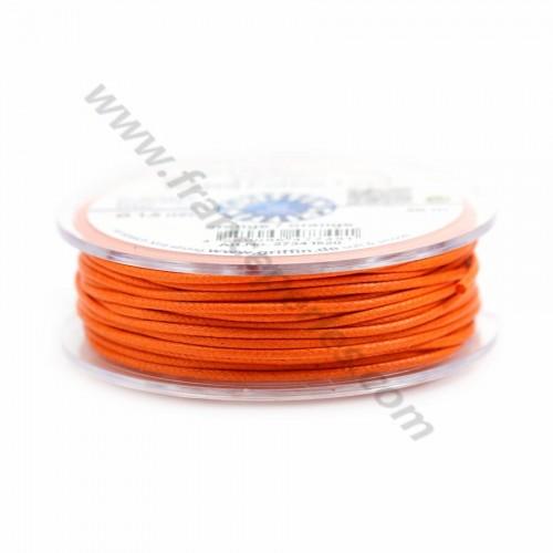Orange waxed cotton cords 1.5mm x 20m