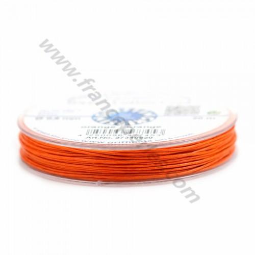 Orange waxed cotton cords 0.8mm x 20m