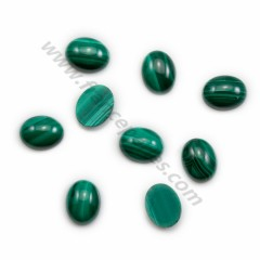 Cabochon malachite oval 8*10mm x 1pc