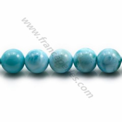 Larimar round beads 5.5-6mm x 40cm