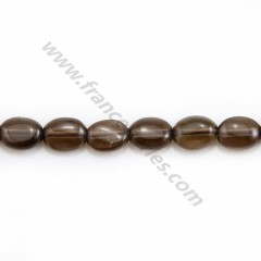 Smoky quartz, of oval shape, in size of 6*8mm x 5pcs