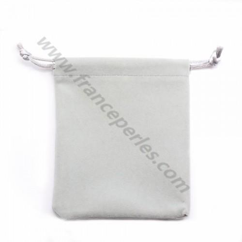 Pochette en velours gris clair, 10*12cm x 1pc