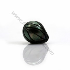 Tahitian cultured pearl, in half-round shaped 12 - 12.5mm x 1pc