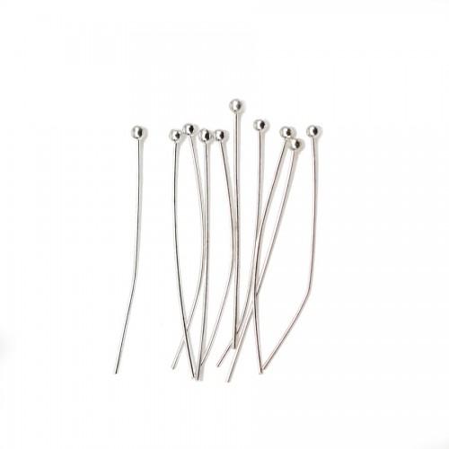 Ball Head pin silver tone x 24mm x 50pcs