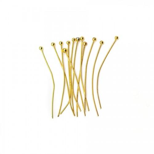 Ball Head pin gold tone x 27mm x 50pcs