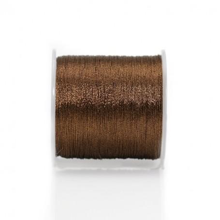 Fil polyester de couleur marron, pailleté, 0.3mm x 150m