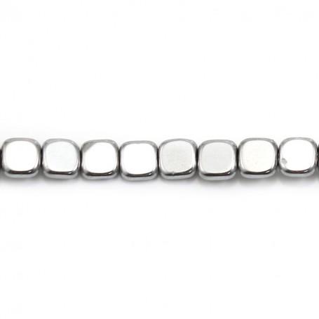 Silver Hematite in square shape 6mm x 40cm