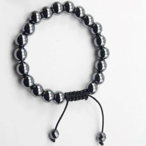 Bracelet Hematite boule rond 8mm
